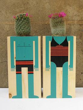 Cactus pot family